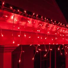 Red Christmas Lights With White Wire Christmas Icicle Light 150 Red Icicle Lights White Wire