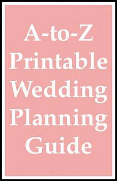 Wedding Planning Printables A To Z Printable Wedding Planning Guide