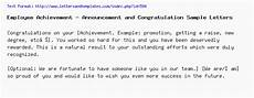 Congratulations Email Template Employee Achievement Announcement And Congratulation