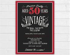 50th Birthday Invitations Free 50th Birthday Invitation For Men Jpeg Printable Aged To