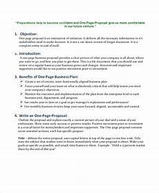 One Page Proposal Template Free Business Proposal Template 35 Free Word Pdf Psd