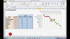 Use Excel To Create Gantt Chart How To Create A Progress Gantt Chart In Excel 2010 Doovi