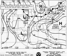 Surface Analysis Chart Depicts Receiving Weather Fax And Weather Satellite Images With
