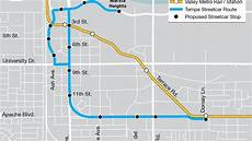 Light Rail Map Phoenix Tempe Tempe Streetcar Project On Track But Community