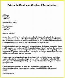 Vendor Termination Letter 3 Free Business Contract Termination Letter Templates