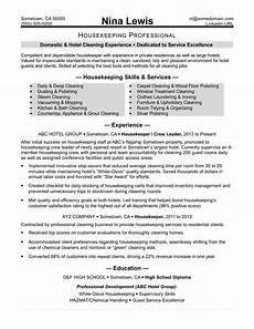 Housekeeping Resume Format Housekeeping Resume Sample Monster Com