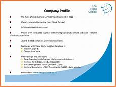 Profile Template 5 Sample Company Profile Pdf Company Letterhead