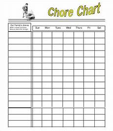 Blank Chore Chart Chore Chart For Kids 7 Free Pdf Documents Download