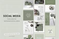 social media design templates green lifestyle social media templates instagram bloggers