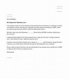 Sample Of Maternity Leave Letter For Employer Letter Notifying An Employer Of Intended Maternity Leave
