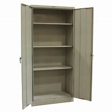 tennsco used 78 inch storage cabinet putty national