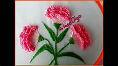 embroidery carnation flowers step by step flores