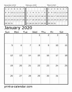 Blank 2020 Calendar By Month To Print Download 2020 Printable Calendars