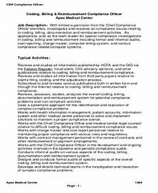 Medical Billing Duties Medical Coding Job Description Sample 9 Examples In