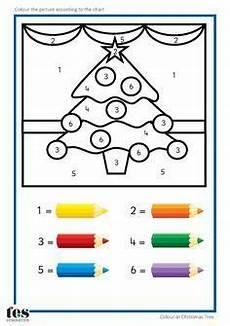 Ausmalbilder Vorschule Kleinkind School Pre K Kindergarten Weihnachten Malen Nach Zahlen