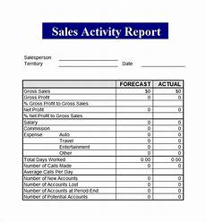 Sales Activity Report Template Excel Sales Report Template 9 Free Pdf Doc Download