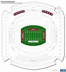 Bryant Denny Stadium Seating Chart With Seat Numbers U2 Level Bryant Denny Stadium Football Seating