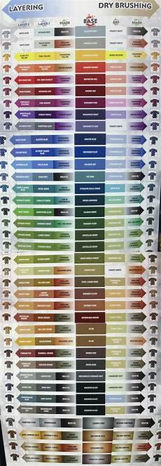 Citadel Paint Conversion Chart 2015 Official Citadel Color Chart Warhammer40k
