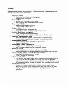 Examples Of Resume Skills List Of The Best Skills For Resumes Samplebusinessresume