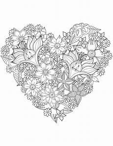 Ausmalbilder Blumen Schwer Herz Sehr Schwierig Blumen F 228 Rben St Valentin
