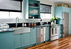 kitchen cupboards get custom paint for real teal appeal