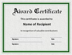 Free Award Certificate Award Certificate Templates 15 Free Printable Ms Word