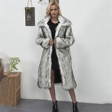 2018 faux fur coat winter thick warm fluffy fox
