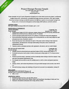 Examples Of Project Management Resumes Project Manager Resume Sample Amp Writing Guide Rg