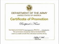 Officer Promotion Certificate Template Promotion Certificate Template Ipasphoto