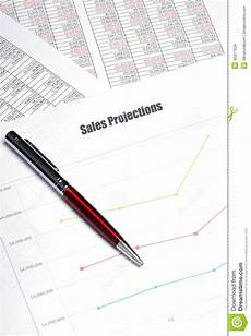 Sales Projections Sales Projections Stock Photo Image Of Accounting
