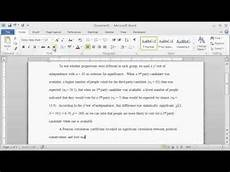 What Is Apa Style How To Report Statistics In Apa Style Youtube