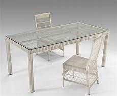 tavolo in rattan sintetico tavolo rettangolare con vetro etnico outlet mobili