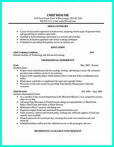 Example Of Chef Resume Chef Resumes That Will Impress Your Future Company