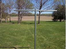 heavy duty t post clothesline poles clotheslines