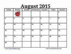 Calendar 2015 August 7 Best Images Of Printable August Calendar Big Print