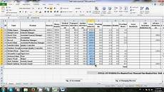Ms Excel Sheet How To Make Salary Sheet Using Microsoft Excel Youtube