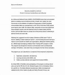 Executive Brief Template 31 Executive Summary Templates Free Sample Example