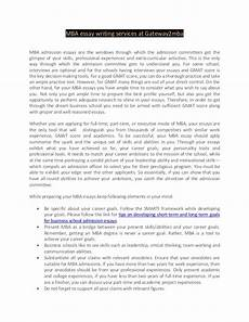 Mba Admission Essay Sample Mba Essay Writing Services At Gateway2mba
