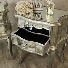 pair of mirrored bedside tables range melody
