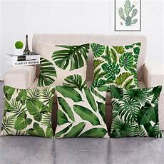 zxzxoon tropical plants green leaves monstera cushion