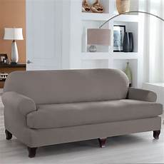 Sofa Slipcovers With 2 Cushions 3d Image by Fit Industries Tailor Fit 2 T Cushion Sofa