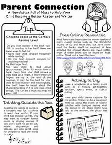 Examples Of Newsletters For Parents From Teachers Parent Connection Newsletter Issue 1 Book Units Teacher
