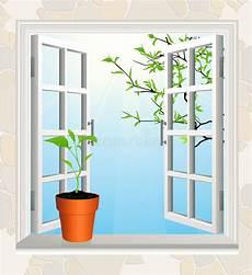 davanzale finestra flowerpot sul davanzale della finestra illustrazione