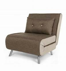 haru single sofa chair bed woodland brown by made