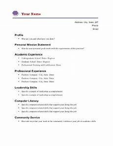 Mission Statement Examples For Resume Academic Resume A4 Template