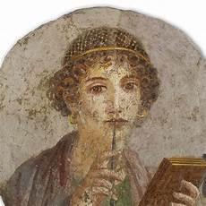 fresco reproducci 243 n arte romana la poetisa hecho en italia