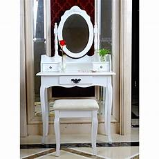 avc designs white dressing table oval mirror