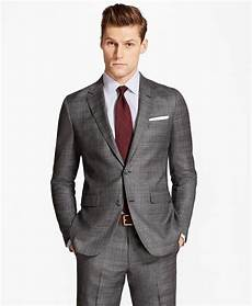 Brooks Brothers The Light Milano Fit Multi Plaid 1818 Suit Brooks Brothers