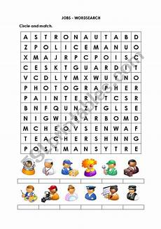 Job Search Activities Jobs Wordsearch Esl Worksheet By Frost S