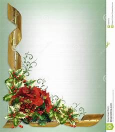 Christmas Card Borders Free Christmas Card Border Holly Floral Stock Illustration